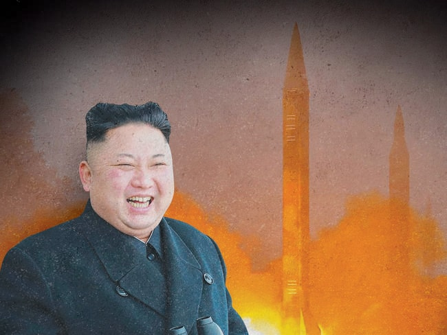 North Korea's latest ballistic missile launched has been a failure, according to reports. Picture: AFP