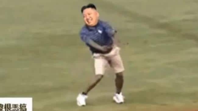 Upset ... North Korea leader Kim Jong-un has been mocked in a video mashup on te internet.