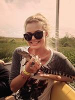 """Margot Robbie, the personal collection... """"I want one! #gatortour #nola"""" Picture: WhoSay"""