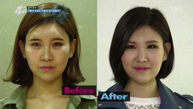 """Speaking up for natural beauty ... A new reality show 'Back to My face"""" in surgically-enhanced obsessed Seoul in South Korea. Wed Grab"""