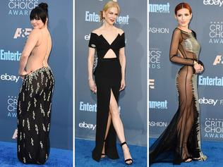 Nicole Kidman, Ariel Winter and Bella Thorne at the 2016 Critics' Choice Awards. Picture: Getty