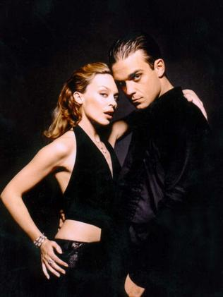 Kylie and Robbie Williams in 2000.