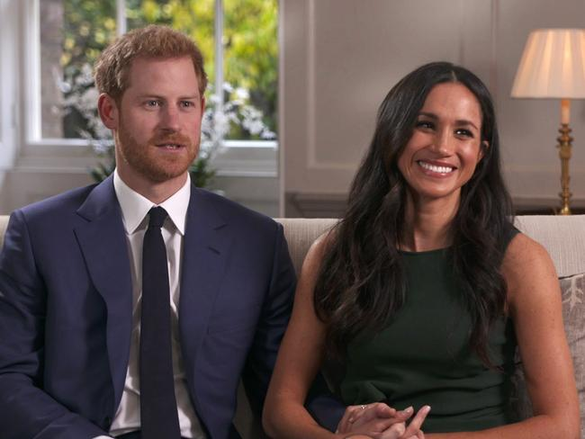 Prince Harry and Meghan Markle opened up about their relationship. Picture: AP