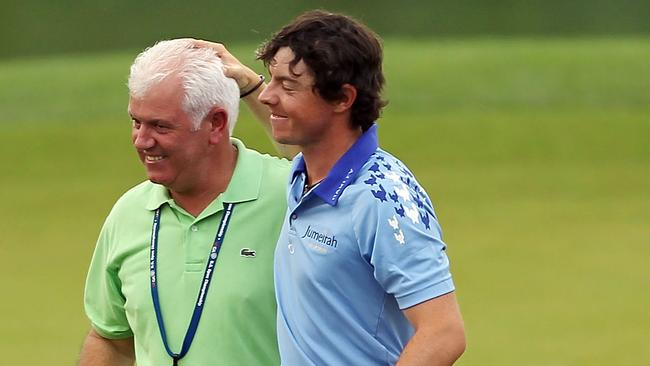 Rory McIlroy and father Gerry.