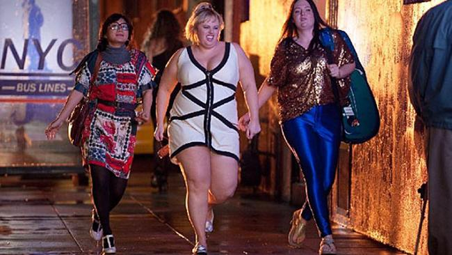 Aussie actor Rebel Wilson, centre, in .