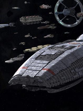 Fantasy ... The refugee fleet at the core of Battlestar Galactica's story.