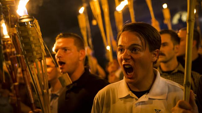 Trump was slow to condemn the White Nationalist protesters at Charlottesville. Picture: Samuel Corum/Anadolu Agency/Getty Images.