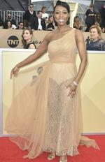 Actress Amanda Warren arrives for the 24th Annual Screen Actors Guild Awards at the Shrine Exposition Center on January 21, 2018, in Los Angeles, California. Picture: AFP PHOTO / FREDERIC J. BROWN