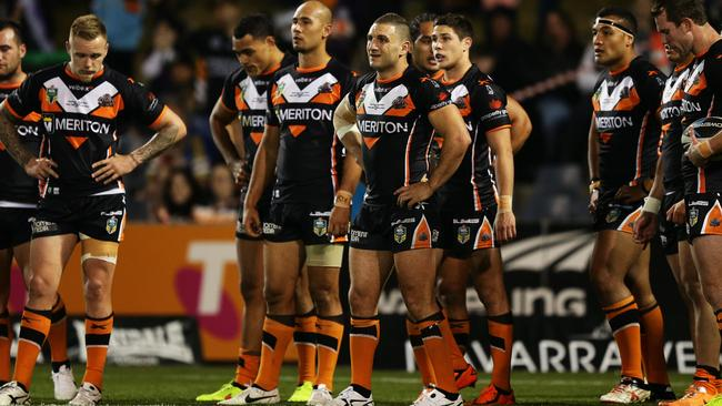 Robbie Farah and the Tigers were blown off the park by the Storm. Pic: Brett Costello