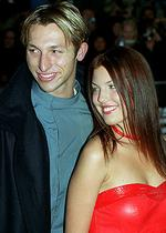 <p>Old flame ... with Kinga Burza at the Sydney premiere of <em>Mission Impossible 2</em> in 2000. Kinga now works in London as a music video director and shot the video for Katy Perry's hit song, <em>I Kissed a Girl</em> / Jim Trifyllis</p>