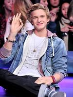Big in Canada ... Singer Cody Simpson visits New.Music.Live at the MuchMusic HQ. on December 12, 2011 in Toronto, Canada. Picture: George Pimentel/Getty Images
