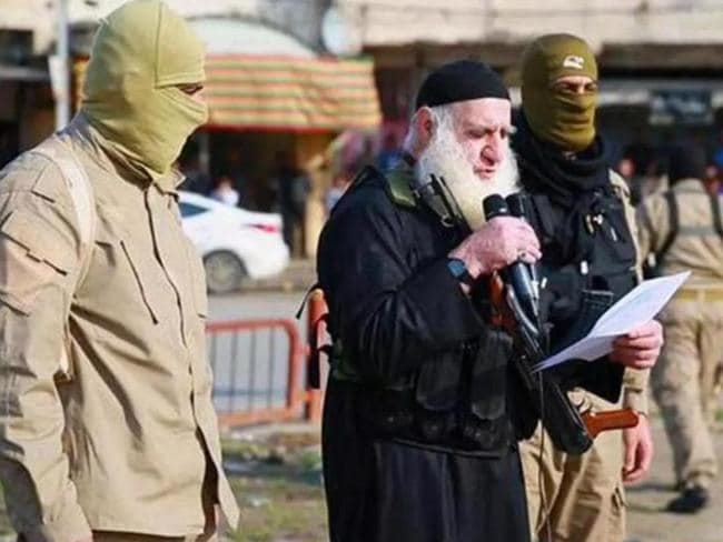 White Beard addressed the crowd before the victims had their heads hacked off. Picture: Supplied
