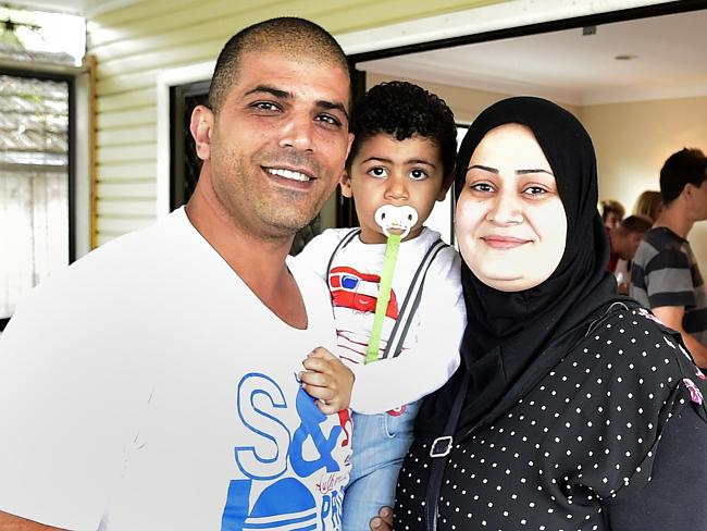 Sam Dandan, with wife Miaman and 2-year-old Walid, were the successful buyers of 720 Warringah Rd, Forestville. Pic: Martin Lange