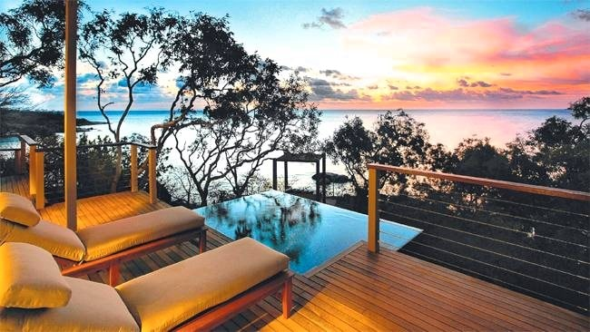This could be you: A gorgeous sunset from the deck at Lizard Island Resort. Picture: Escape