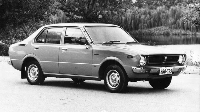 This isn't a photo of a 1976 Toyota Corolla liftback. It's a sedan, but it's the closest image we had in our files. Picture: Supplied.
