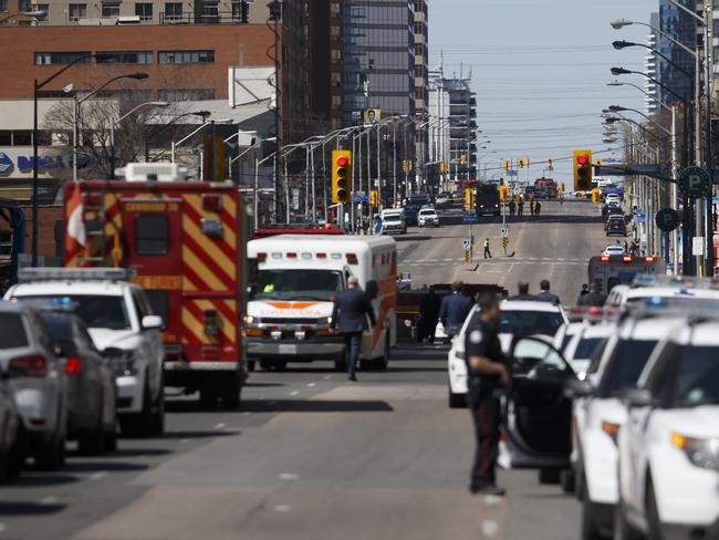 A suspect is in custody after a white van collided with multiple pedestrians. Picture: Getty Images