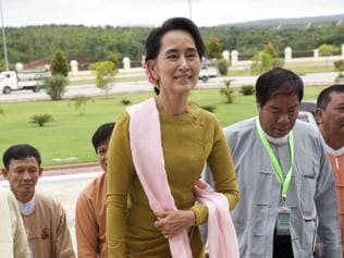 Burma's Opposition leader Aung San Suu Kyi. Picture: AP