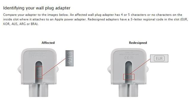 Compare your adapter to these images. Picture: Apple