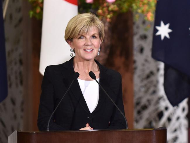 Australia's Foreign Minister Julie Bishop said North Korea's threats were 'no laughing matter'. Picture: Kazuhiro Nogi/AFP