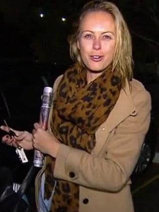 Sylvia arrives in the Channel 9 carpark.