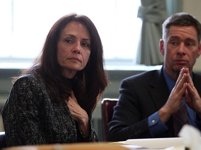 Fought in court ... Elizabeth and Sean Canning listen to testimony in Morris County Super