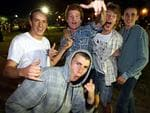 <p>School leavers from NSW and Victoria celebrate the start of schoolies week in Byron Bay on the NSW far north coast.</p>