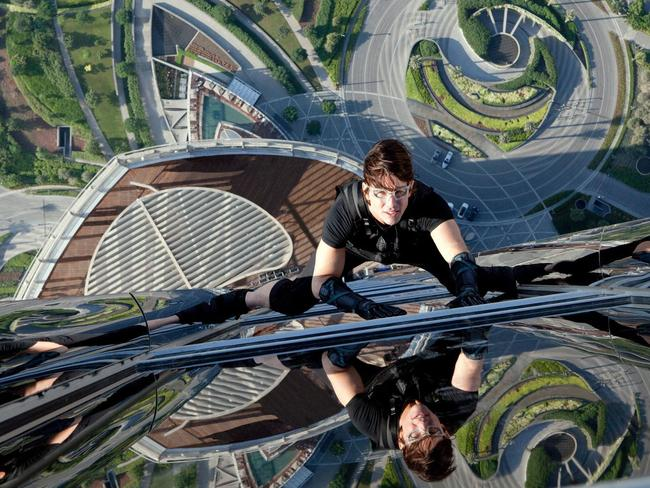 Cruise did his own stunts in Ghost Protocol.