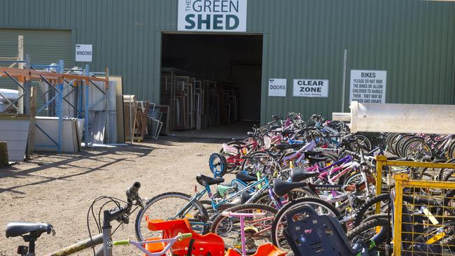 The Green Shed is full to the brim with stuff. About 20 per cent of it is found on the tip, and 80 per cent is brought in by customers. Picture: Richard Tuffin.