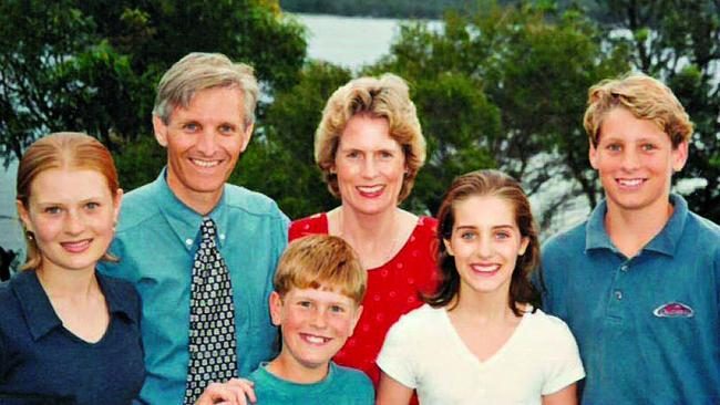 Hastie, right, aged 13, with his family. Pic: Andrew Hastie