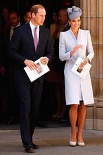 Prince William, Duke of Cambridge and Catherine, Duchess of Cambridge leave St Andrew's Cathedral following a Easter Sunday Service on April 20, 2014 in Sydney. Picture: Getty
