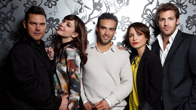 The cast of Wonderland: Ben Mingay, Emma Lung, Glenn McMillan, Jess Tovey and Tim Ross. Picture: Nicole Cleary