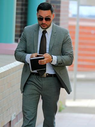 Salim Mehajer arrives at Burwood court. Picture: John Grainger