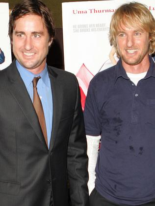 Actor Owen Wilson (r) with brother Luke. Picture: Supplied