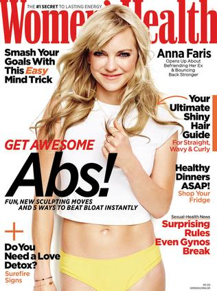Anna Faris features in Women's Health. Picture: Jeff Lipsky/Women's Health