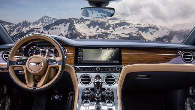 Luxury personified: The Bentley's leather and timber-lined cabin. Pic: Supplied.