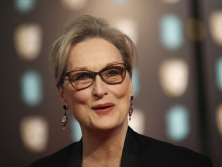 Meryl Streep arrives at the British Academy Film Awards in London. Photo: Vianney Le Caer/Invision/AP, File.
