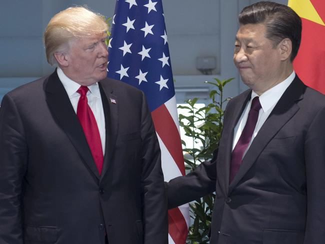 US President Donald Trump and Chinese President Xi Jinping during a meeting on the sidelines of the G20 Summit in Germany last July. Picture: Saul Loeb/AP