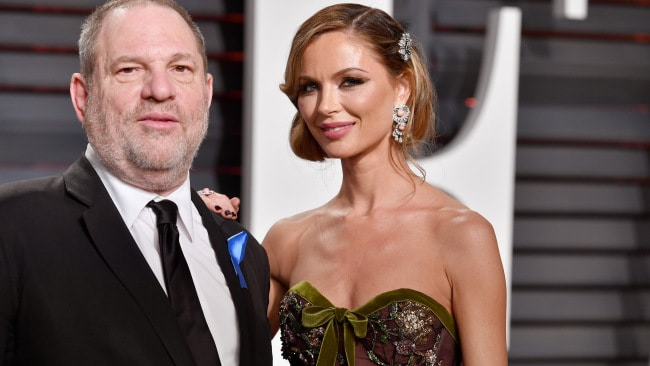 Weinstein (L) and his fashion designer wife Georgina Chapman attend the 2017 Vanity Fair Oscar Party. Photo: Pascal Le Segretain/Getty Images