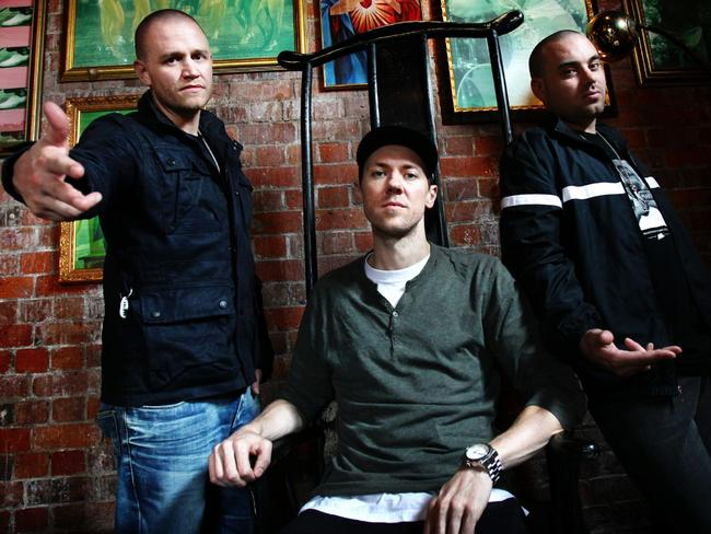 The Hilltop Hoods in Sydney in 2012 promoting previous album  <i>Drinking From The Sun</i>. Picture: Craig Greenhill