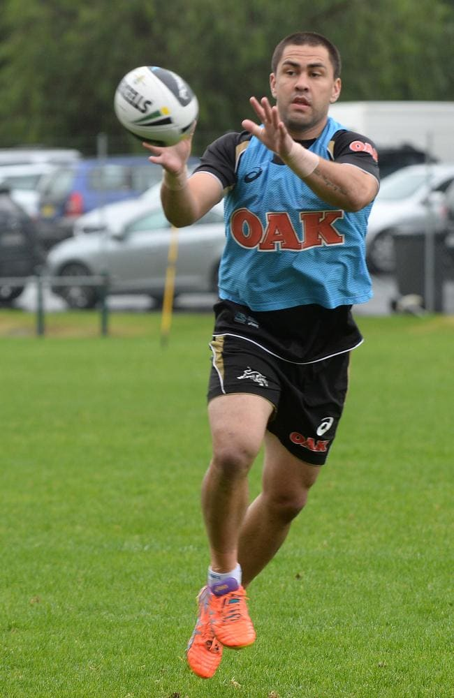 Jamie Soward at training.