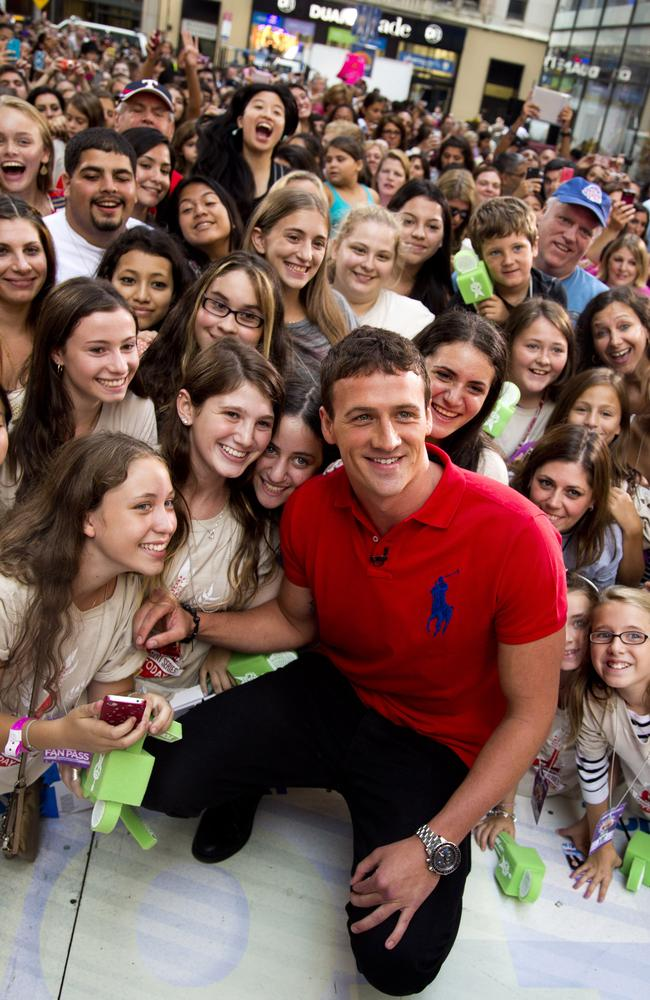 Ryan Lochte was a real hit with the ladies.