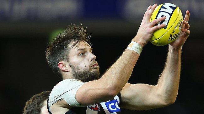 Nathan Brown in action for the Pies. There is some doubt over his place against the Suns. Picture: Getty Images