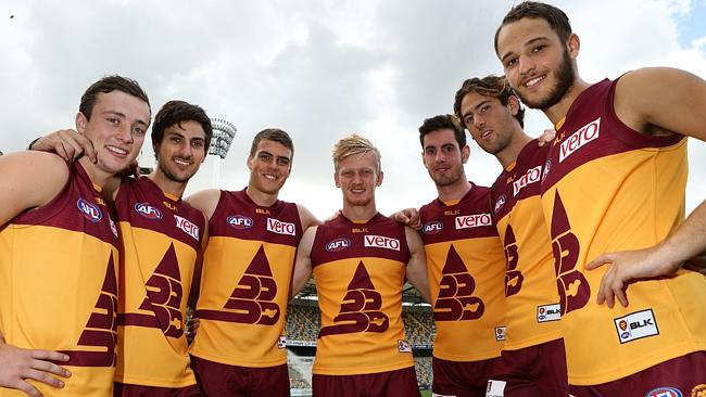 It will be the fourth straight week these seven Lions will play together. Picture: Darren England.
