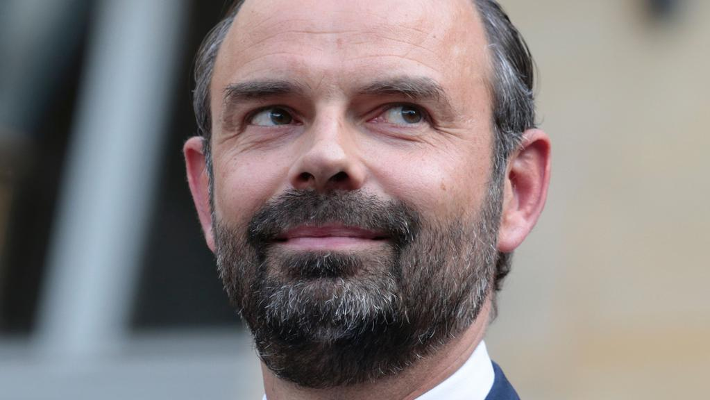 France's newly appointed Prime Minister Edouard Philippe looks on during an official handover ceremony in Paris. Picture: AFP