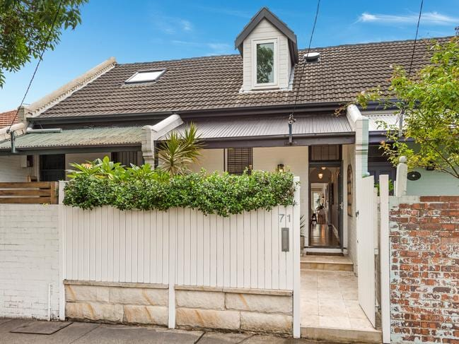 This West St terrace sold for over $2 million in March, while (below) a Small St in Willoughby was also sold in March for the same amount dispite being twice the distance to the city.