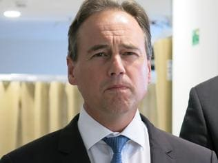 Federal Health Minister Greg Hunt during visit to Frankston Hospital in Melbourne, Monday, April 3, 2017. (AAP Image/Alex Murray) NO ARCHIVING