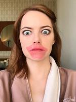 "Emma Stone ... ""Some say beauty is pain, others say it just ridiculous! And so is prepping for the #goldenglobes with this hilarious human being! #koreanskincaresilliness"" Picture: Rachel_Goodwin/Instagram"