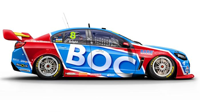 Jason Bright's No. 8 BOC Holden Commodore.