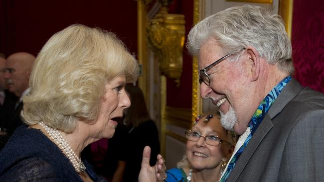 Royal circles ... Rolf Harris was close friends with Prince Charles and his wife Camilla, Duchess of Cornwall.