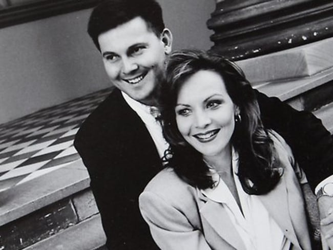 Gerard and Allison Baden-Clay at their engagement party.